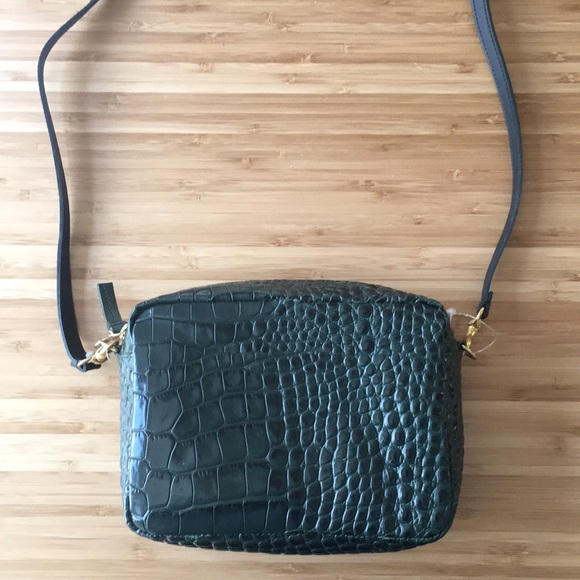 9a4e22ca0 Clare Vivier Bags | Midi Sac Croc Leather Crossbody | Poshmark